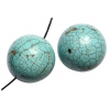 Turquoise 10mm Round Stabilized Green